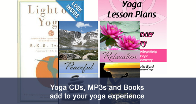 yoga audio, books and videos